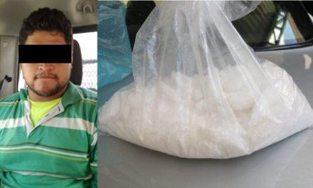 """¡Con medio kilo de """"crystal"""" detuvieron a otro vendedor de drogas en Aguascalientes!"""