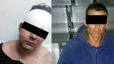 ¡Tras persecución y accidente detuvieron a 2 delincuentes que asaltaron una gasolinería en Aguascalientes!