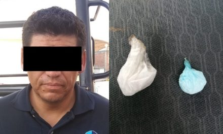 ¡Ex elemento de la Fiscalía General de Zacatecas fue detenido con droga en Aguascalientes!