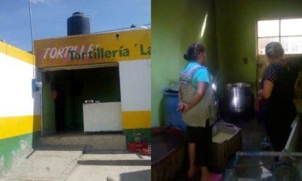 ¡Flamazo en una tortillería en Aguascalientes dejó una mujer lesionada!