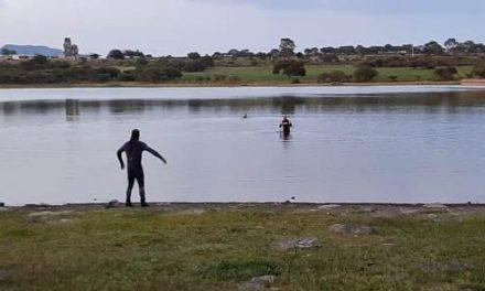 ¡Ya fue rescatado el cuerpo del hombre que murió ahogado en una presa en Aguascalientes!