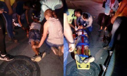 ¡Lesionado imprudente peatón atropellado en un puente vehicular en Aguascalientes!