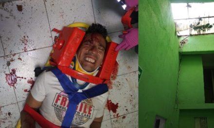 ¡Potosino sufrió lesiones de consideración tras caer de 12 metros de altura en un hotel en Aguascalientes!