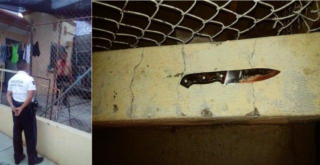 ¡Hombre intentó matarse en Aguascalientes provocándose una herida en el cuello con un cuchillo!