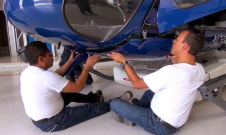 ¡Fue trasladado el Helicóptero Águila 1 a mantenimiento preventivo!