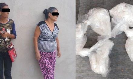 """¡Policías estatales de Aguascalientes detuvieron a 2 mujeres con 100 gramos de """"crystal"""" y cuyos hijos están presos por delitos contra la salud!"""