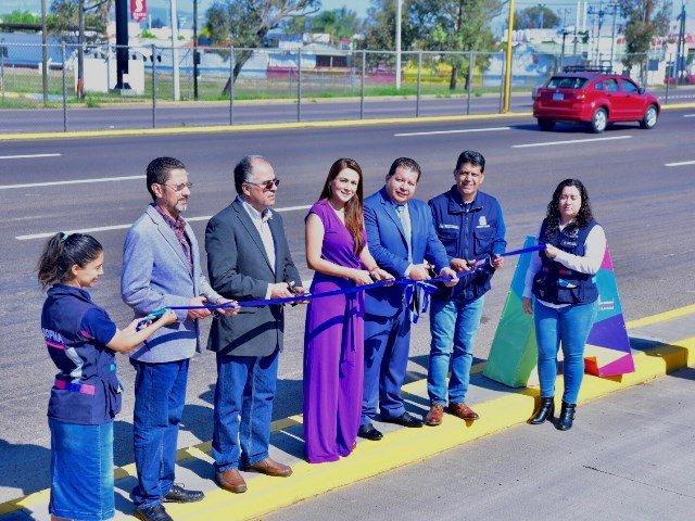 ¡Entregó Tere Jiménez obras de rehabilitación en salida a Zacatecas!