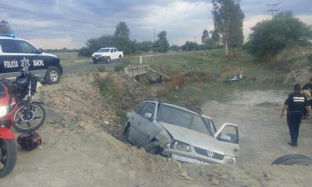 ¡Un auto cayó a un barranco en Aguascalientes y resultaron lesionadas 2 mujeres y 2 menores!