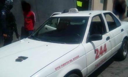 ¡Asegura PEP a taxista por la posesión de casi medio kilo de droga en Zacatecas!