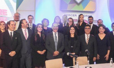 ¡Asiste gobernador MOS al Tercer Informe de la presidenta municipal de Aguascalientes!