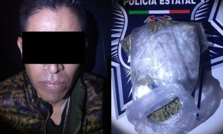 ¡Detuvieron a narcomenudista originario de León con un kilo de marihuana en Aguascalientes!