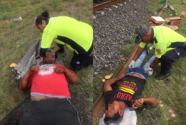 ¡Camioneta fue embestida por el tren en Cosío, Aguascalientes, y dejó 3 hombres lesionados!