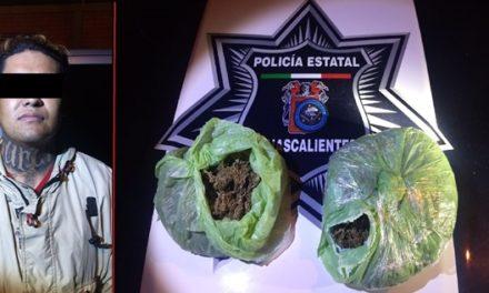 ¡Policías estatales de Aguascalientes capturaron a distribuidor de droga!