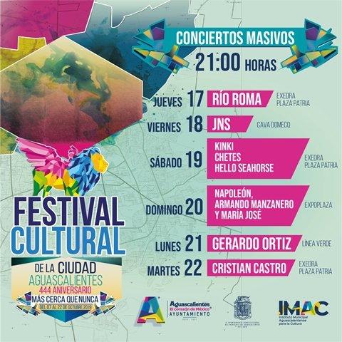 ¡Invita Municipio de Aguascalientes a celebrar el 444 Aniversario de la Ciudad!