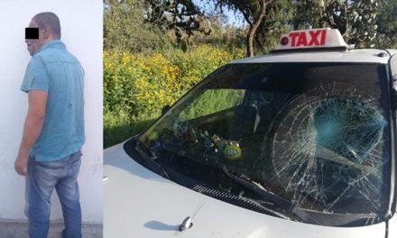 ¡Delincuente asaltó a un taxista con unas tijeras y fue detenido por policías municipales de Aguascalientes!