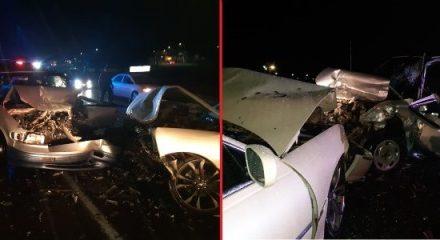 ¡Fuerte choque entre 2 camionetas dejó 2 lesionados en Aguascalientes!