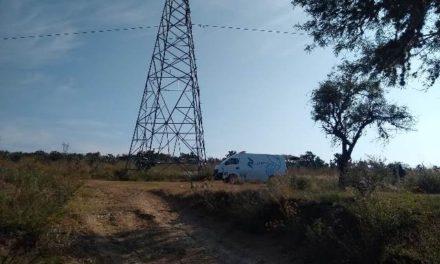¡Hombre se ahorcó en una torre de alta tensión de la CFE en Aguascalientes!
