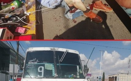 ¡Ancianito murió atropellado por un camión urbano en Aguascalientes!
