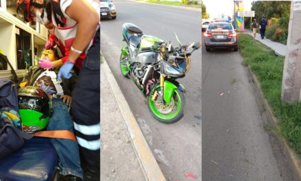 ¡Motociclista murió tras estrellarse contra un poste de concreto de la CFE en Aguascalientes!