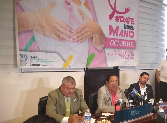 ¡Mujeres mayores de 40 años con mayor incidencia de cáncer de mama: ISSEA!