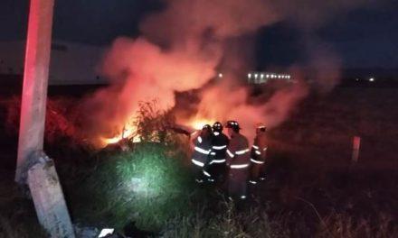 ¡Padre e hijos murieron calcinados tras accidente automovilístico en Aguascalientes!