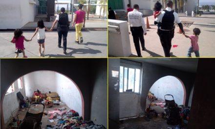 ¡Policías municipales de Aguascalientes rescataron a 4 menores que vivían en condiciones insalubres y en completo descuido!