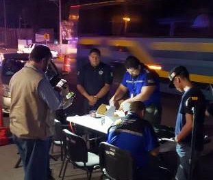 ¡Se realizó operativo alcoholímetro en el municipio de Asientos!