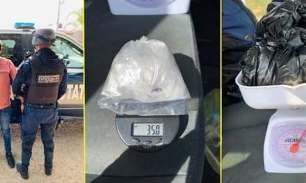 ¡Vendedor de drogas originario de Guanajuato fue detenido en Aguascalientes!