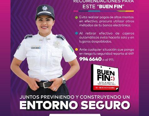 ¡Intensificará Policía Municipal operativo con motivo del Buen Fin!
