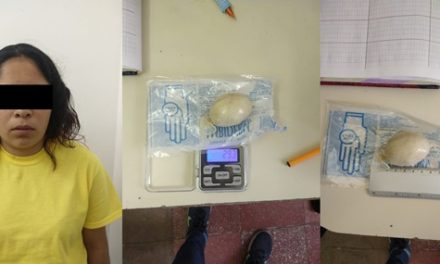 ¡Detuvieron a mujer que intentó meter droga al CERESO Aguascalientes oculta en su intimidad!