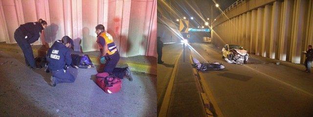 ¡Irresponsable automovilista mató a un motociclista por circular en sentido contrario en Aguascalientes!