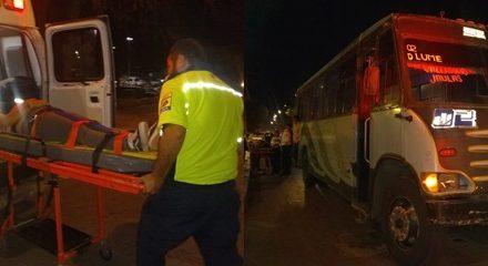 ¡Mujer lesionada tras ser atropellada por un camión urbano en Aguascalientes!