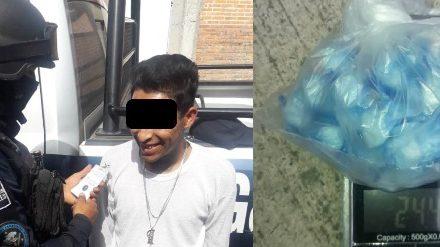 ¡Distribuidor de droga fue detenido por elementos del Grupo GOPES de la SSPE en Aguascalientes!