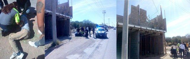 ¡Trabajador se salvó de morir tras caer de 5 metros en una obra en Aguascalientes!