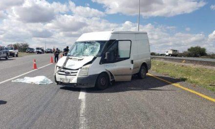 ¡Hombre murió atropellado por una camioneta en Pánfilo Natera!
