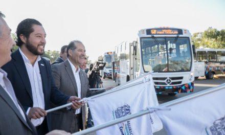 ¡Al término de este Gobierno, el servicio de transporte público estará totalmente renovado para beneficio de los usuarios: MOS!