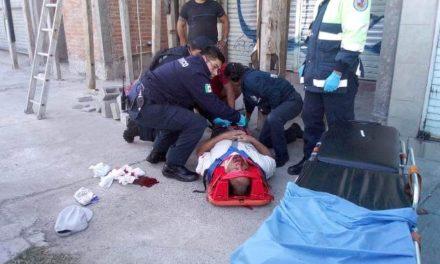 ¡Albañil se salvó de morir tras caer de 4 metros de altura en una construcción en Aguascalientes!