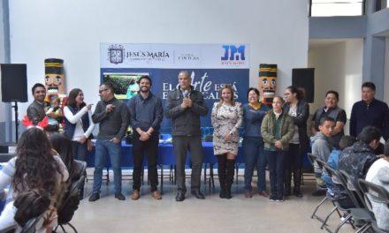 ¡Conviven alumnos de la Casa de Música de Jesús María con el presidente municipal!