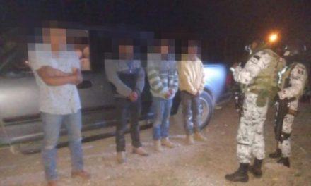 ¡Elementos de la Guardia Nacional detuvieron a 4 sujetos con armamento en Río Grande!