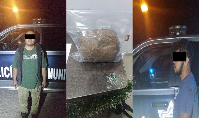 ¡Detuvieron a 3 sujetos con 1 kilo de marihuana en Calvillo, Aguascalientes!