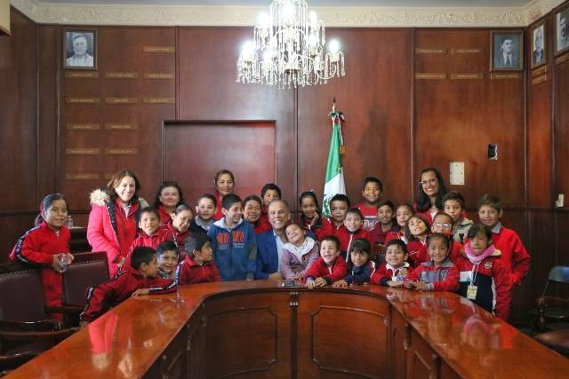 ¡El Palacio Municipal de Jesús María abrió las puertas a niños de educación especial!