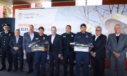 ¡Este Gobierno seguirá equipando a los héroes de Aguascalientes: los bomberos estatales!