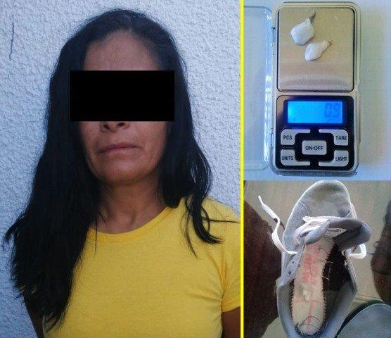 ¡Mujer fue detenida cuando intentaba ingresar droga al CERESO Aguascalientes!