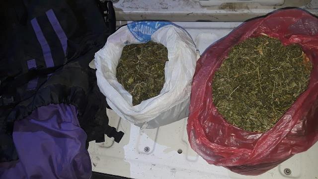 ¡PEP aseguró en Villanueva y Cañitas dos vehículos y cuatro bolsas con marihuana!