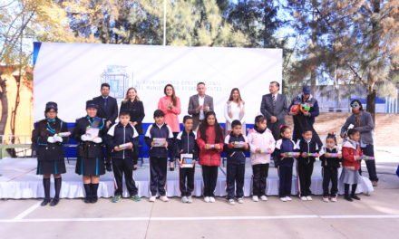 ¡Tere Jiménez inaugura velaria en escuela primaria Miguel Ángel Barberena Vega!