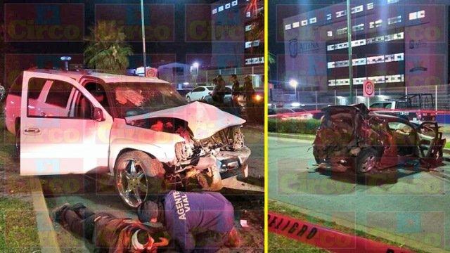 ¡Choque entre camioneta y auto dejó 4 lesionados, 2 de ellos graves, en Lagos de Moreno!