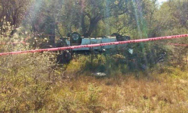 ¡Volcadura de camioneta en Zacatecas dejó 1 bebé muerto y 3 lesionados!