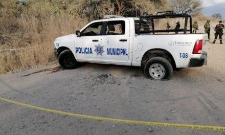 ¡Emboscada de sicarios a policías municipales de Teocaltiche: 2 muertos y 1 lesionada!