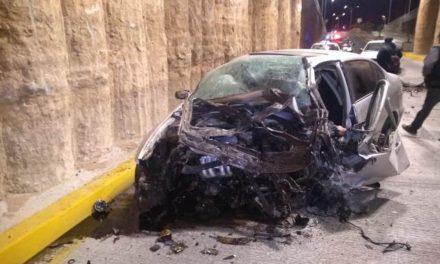 ¡Automovilista se mató tras fuerte accidente en Aguascalientes!