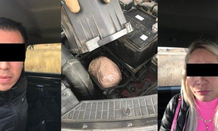 """¡Detuvieron a pareja de """"chilangos"""" con más de 1 kilo de """"crystal"""" en Aguascalientes!"""